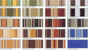 Awning Patterns and Colors